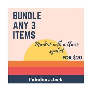 3 Item $20 Bundle Sale